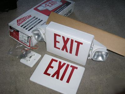 lithonia lighting quantum hqm emergency light exit sign. Black Bedroom Furniture Sets. Home Design Ideas