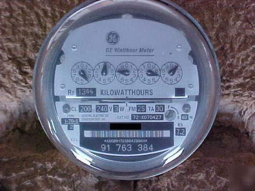 Ge Watthour Meter : Ge electric watthour meter i s lot of