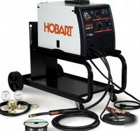 New hobart handler 187 mig welder w/cart 500527