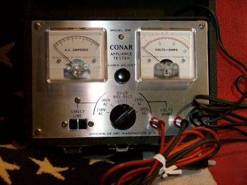 Vintage Conar Appliance Tester Ohmmeter Immaculate