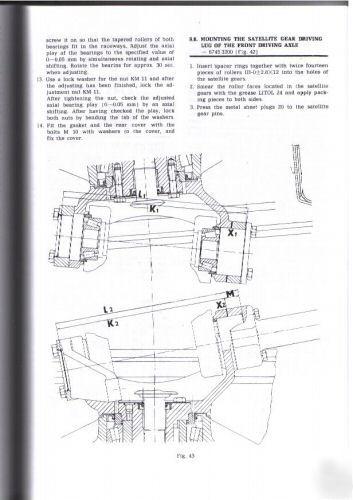 Zetor 7711 7745 Tractor Workshop Manual Set
