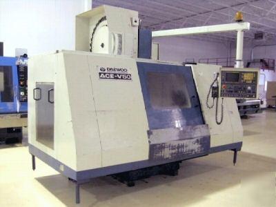 Daewoo Ace V50 Cnc Vertical Machining Center Mill Fanuc