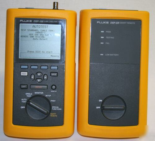 Fluke Network Dsp 100 Digital Cable Analyzer Cat5 Test