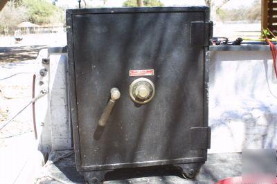 The mosler safe company antique vintage fire safe