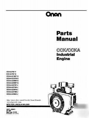 onan cck ccka parts manual 4a lincoln welder 927 2501 rh repair parts com 200 Amp Lincoln Welders Manuals Lincoln Welder Manuals 225 125