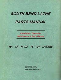 South bend lathe heavy 10 parts list 15 more sbl manual