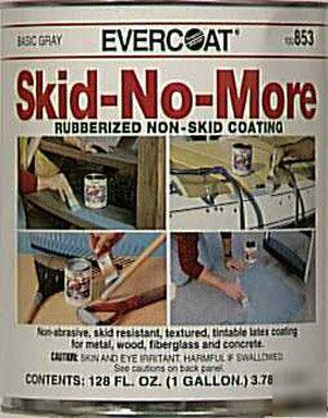 Skid no more gallon gray rubberized coating gal 1002468 for No skid paint