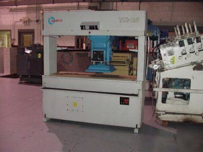 25 ton samco th-25 travel head die cutting press #1701
