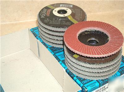 10 Pferd Grinding Flap Disc Polifan Wheel 4 1 2x7 8 80
