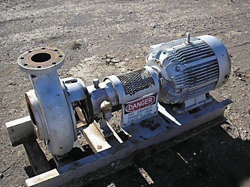 Goulds 3196 4X6-13 centrifugal pump w/ 40HP tefc motor