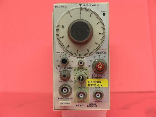 Tektronix Fg501 Function Generator Plug In
