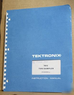 Tek tektronix 7S12 original service/operating manual