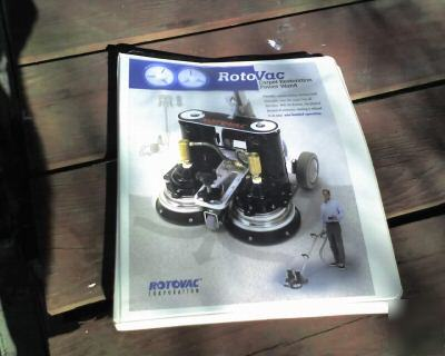 Rotovac carpet cleaning wand