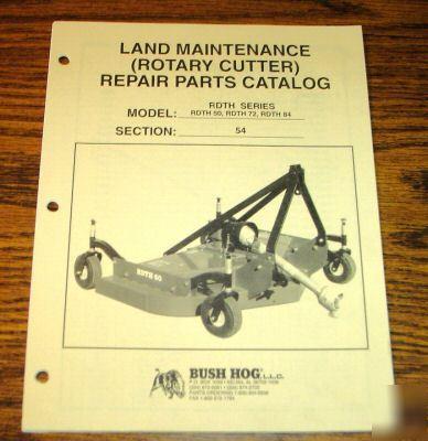Bush hog rdth 60 72 84 rotary cutter mower part catalog