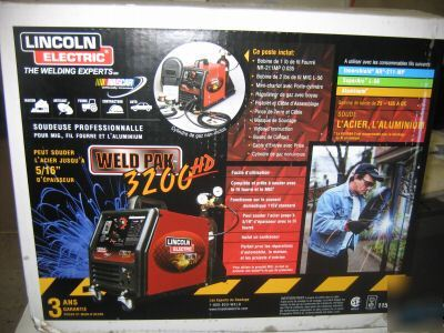 New lincoln electric 3200 hd weld pak mig welder 3200HD