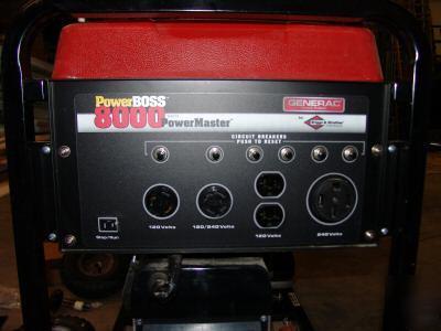 New Generac 8000 Watt Power Boss Power Master Generator